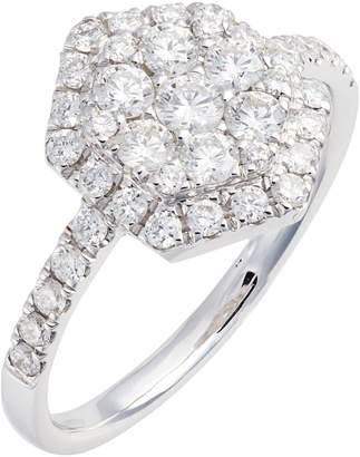 Bony Levy Mika Diamond Pave Hexagon Ring