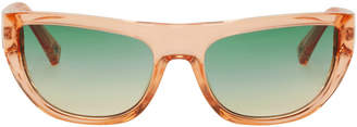 Le Specs Double Rainbouu Orange Edition Transparent Night Crawl Sunglasses