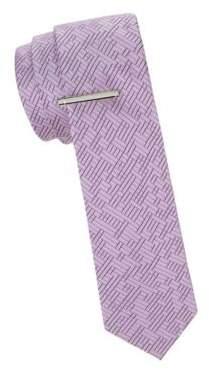 Calvin Klein Maze Silk Slim Tie