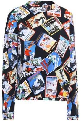 Love Moschino Printed Cotton-blend Fleece Sweatshirt