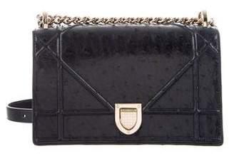 Christian Dior Ostrich Diorama Bag
