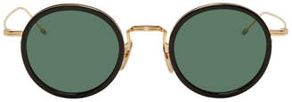 Thom Browne Black and White Gold TBS906 Sunglasses