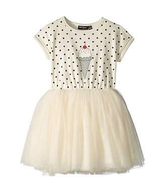 Rock Your Baby Hokey Pokey Dropped Shoulder Circus Dress (Toddler/Little Kids/Big Kids)