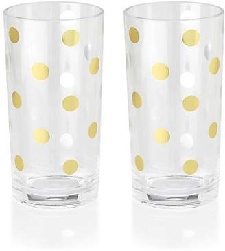 Kate Spade Two-Piece Polka Dot Highball Glasses