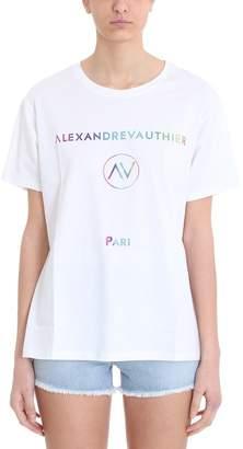 Alexandre Vauthier Multicolor Logo Print T-shirt