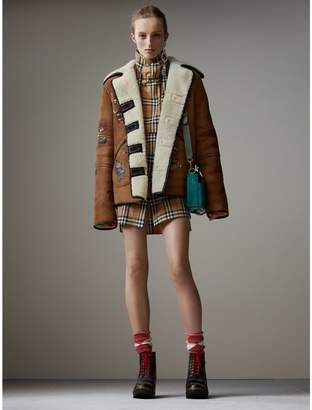 Burberry Sketch Print Shearling Jacket