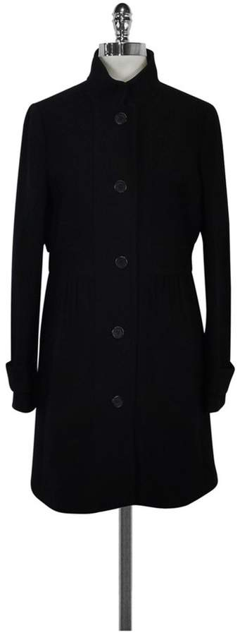 J. Crew Black Double Cloth Coat