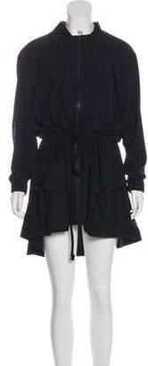 VPL Zip-Up Knee-Length Dress