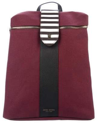 Henri Bendel Convertible Canvas Backpack
