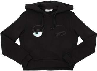 Chiara Ferragni Flirting Cotton Sweatshirt Hoodie