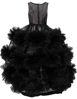Molly Goddard - Harriet Tiered Tulle Gown - Black