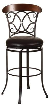 Hillsdale Furniture Dundee Swivel Bar-Height Stool, Dark Coffee