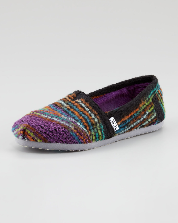 Toms Striped Wool Slip-On, Multicolor