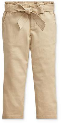 Ralph Lauren Girls' Belted Paperbag Pants - Little Kid