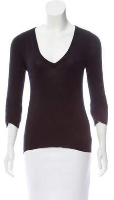 Prada Cashmere & Silk V-Neck Sweater