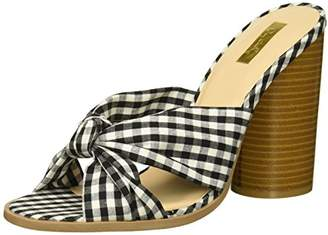 Qupid Women's Wood Heeled Sandal
