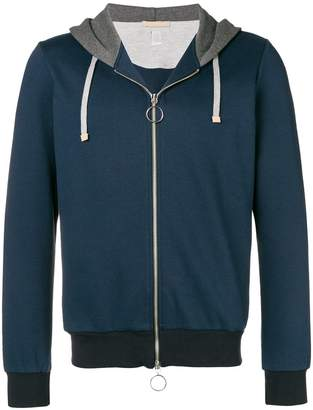 Eleventy zipped drawstring hoodie