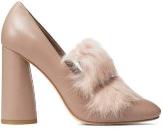 Donald J Pliner FAUNE, Nappa Leather and Fur Pump