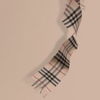 Burberry The Mini Classic Cashmere Scarf in Check $285 thestylecure.com