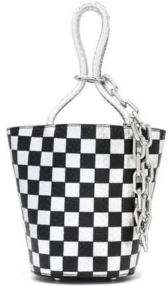 Alexander Wang Checked Snake-Effect Leather Bucket Bag