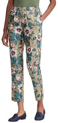 Lauren Ralph Lauren Slim-Fit Floral-Print Pants