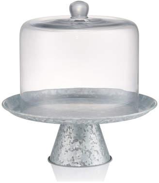 Artland Glass Cake Dome With Galvanized Stand
