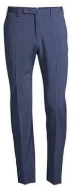 Incotex Men's Virgin Wool& Stretch Silk Trousers - Navy - Size 32