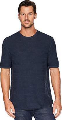 Calvin Klein Men's Short Sleeve T-Shirt Linen Textured Stripe