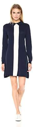 Lacoste Women's Long Sleeve Color Block Jersey/Wool Polo Dress