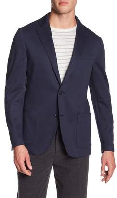 14th & Union Knit Jersey Trim Fit Comfort Blazer