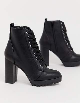 London Rebel Lace Up Platform Boots