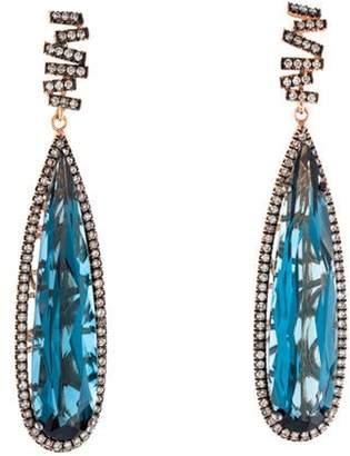 Suzanne Kalan 18K Topaz & Diamond Drop Earrings rose 18K Topaz & Diamond Drop Earrings