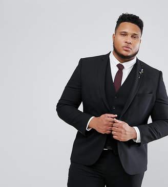 Harry Brown PLUS Plain Stretch Slim Suit Jacket