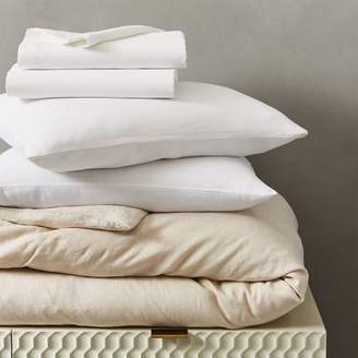 west elm Belgian Flax Linen Bedding Set - Natural