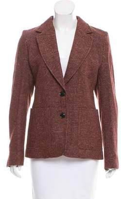 Closed Wool Notched-Lapel Blazer w/ Tags