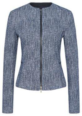 Hugo Boss Karonita Bouclé Jacket 8 Patterned $445 thestylecure.com