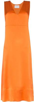 Asceno silk midi slip dress