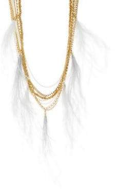 Natasha Feather Tassel Chain Necklace