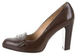 Tod's Pointed-Toe Leather Pumps