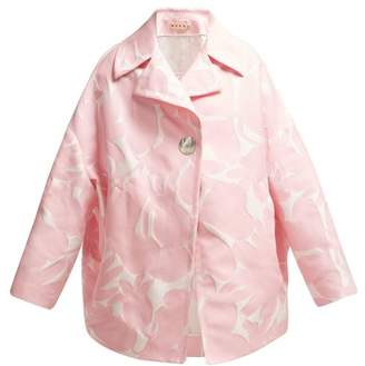 Marni Avery Floral Jacquard Coat - Womens - Pink White