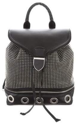 Alexander McQueen Embellished Leather Backpack
