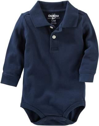Osh Kosh OshKosh BGosh Baby Boys Long Sleeve Polo Bodysuit