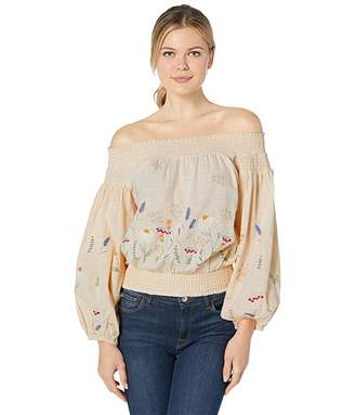 Rock and Roll Cowgirl Off Shoulder Blouse B4C1178