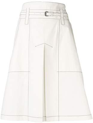 Bottega Veneta belted mid-length skirt