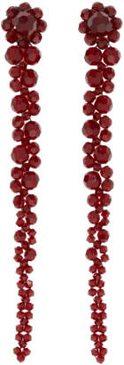 Simone Rocha Red Drip Earrings