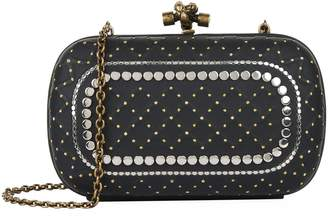 Bottega Veneta Leather Studded Knot Clutch Bag