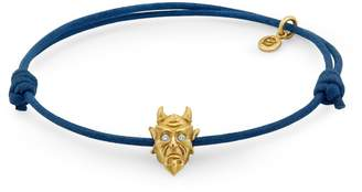 Snake Bones - Devil Bracelet in Yellow Gold with Diamond Eyes