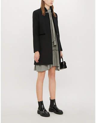 Maje Galar long-sleeved wool-blend coat
