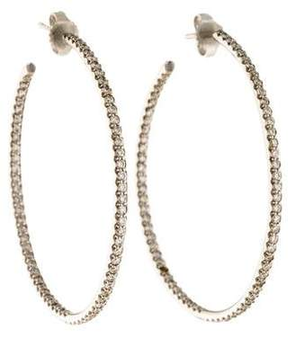 Roberto Coin 18K Diamond Extra Large Inside-Out Hoop Earrings