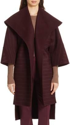 Diane von Furstenberg Pinstripe Wool Blend Coat